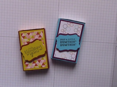 Match Box Gift Card Holder using Stampin' Up Envelope Punch Board and Designer Series Paper