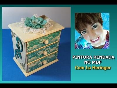 MDF - PINTURA RENDADA - LINDA É FÁCIL (www.casadalatonagem.com)