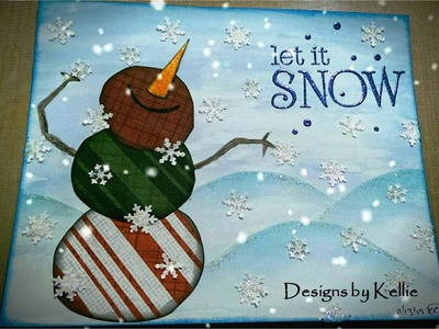 Mixed Media Mini Art Journal Process - Page 21 - Happy Fatty Snowman
