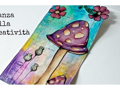 Mixed Media tag with Gelatos