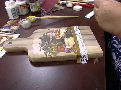 Mulher.com - 02.09.2015 - Decoupage com pintura imitando madeira - Rose Rodrigues
