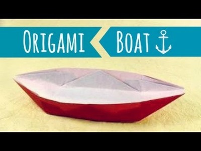 Origami boat instructions