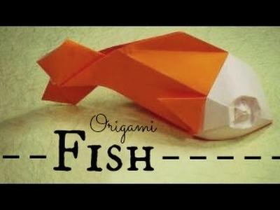 Origami Fish Instructions (Davor Vinko)