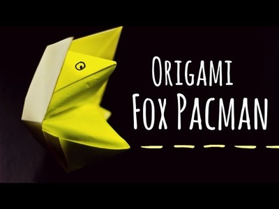 Origami for kids. Fox pacman instructions