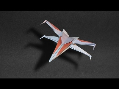 Origami: Spaceship Star Wars. X Wing