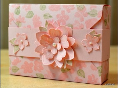 Painted Petals Thank You Card Box - JanB UK Stampin' Up! Demonstrator