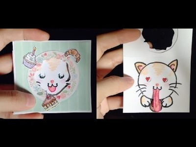 Peek a Boo Card Tutorial | Sticking Out Tongue ♡