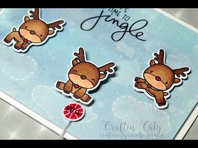 Reindeer Games Pulled Spinner Card