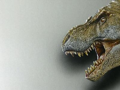 Scary T-Rex Drawing - 3D Art