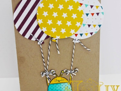 Stampin Up! Cheerful Critters Birthday Card with Project Life Cards