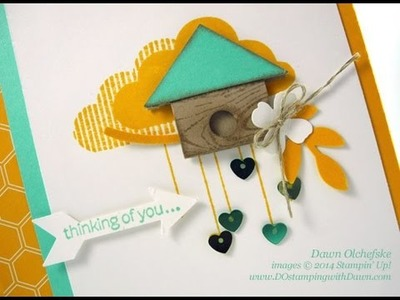 Stampin' Up!'s What's Up Punch Art Birdhouse
