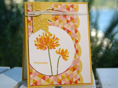 Stampin' Up Sympathy Card using Too Kind