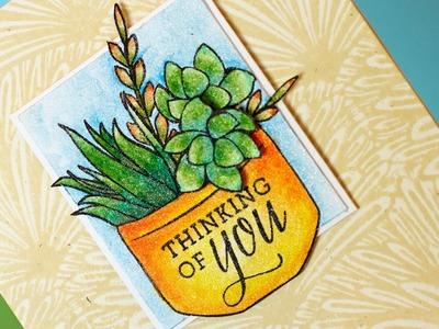Stretch Your Stamps + Shimmer Watercolor
