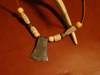 Survival Necklace   Forging and Starting A Fire With A Mini Hatchet Style Necklace