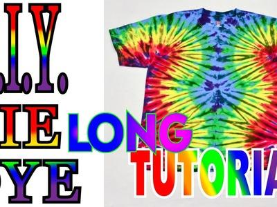 Tie Dye Wavy Fan Fold Shirt [Long Tutorial] #47
