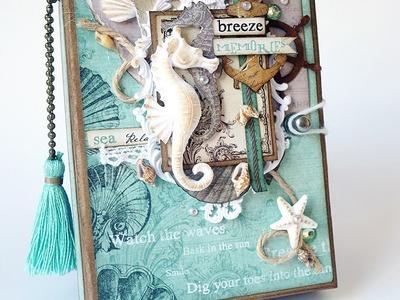 Tri Fold Notebook Prima Seashore - Tutorial