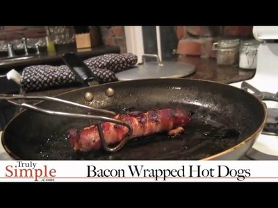 TrulySimple recipe for Bacon Wrapped Hotdogs