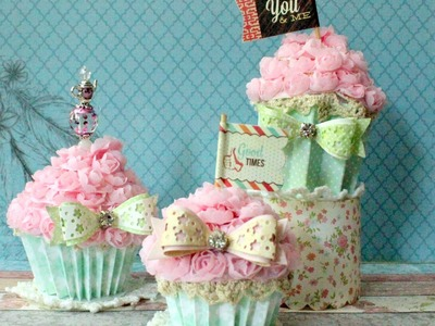 Tutorial - Shabby Faux Cupcakes | How to do | Handmade