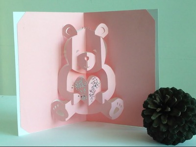 Valentine Teddy Bear Love Pop-Up Card Tutorial - Free Pattern