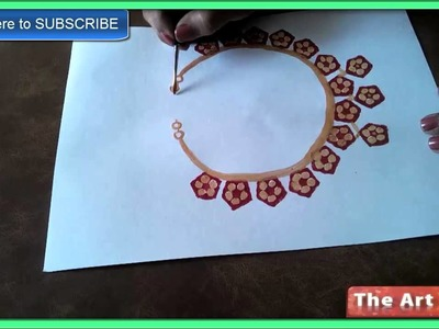 Vegetable Printing to paint a Chain  How to paint a Chain by Lady's finger
