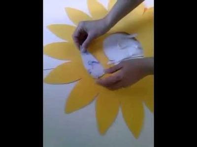 Video tutorial girasol plantilla
