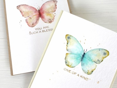 Watercolor Stamping: Easy Butterflies