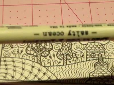 ZIA-Zentangle Inspired Art; ATC Tutorial