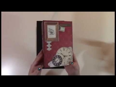 Antique Mini Album   Page Construction Video