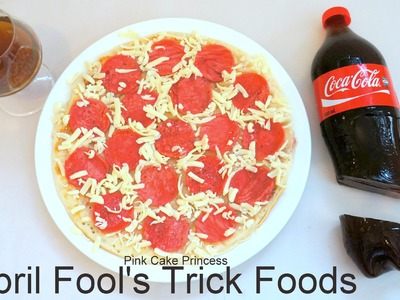 April Fool's Prank Trick Food: Pancake Pepperoni Pizza & Coke Jelly Gummy Recipe How to