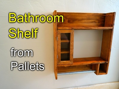 Bathroom Shaving Shelf from Pallet Wood - How to