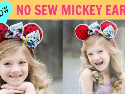 BEST No sew MINNIE + MICKEY Ears Around!
