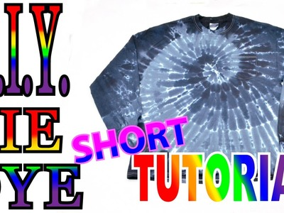 Black Dilutions Spiral Tie Dye Shirt [Short Tutorial] #49
