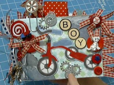 BOY Paper Bag Album Mini Album by ScrapbookGiggles