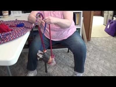 Braided Rug Tip: No Tangled Brainding with T-Shirt Yarn