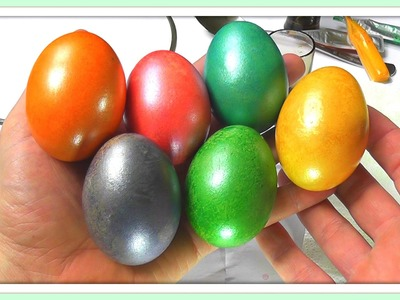 Coloring Easter Eggs - Shimmer Egg Dyes (Glossy Effect)