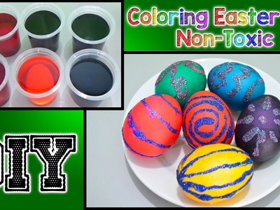 DIY Coloring Easter Eggs - Non-Toxic Real Eggs | Learn Primary Colors | Learn Secondary Colors