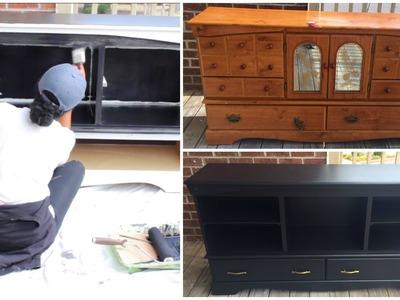 DIY |  Entertainment Center (Furniture Makeover)