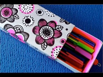 DIY. How to make a Pencil Case | Kid Crafts | DIY  School Supplies: pencil case & pencils