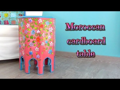 DIY: How to make an Arab table with cardboard, cardboard furnitures - Isa ❤️