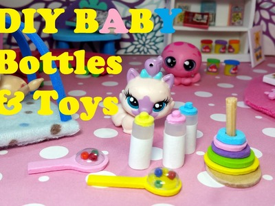 DIY Miniature Baby Doll Bottles, Rattles, & Toys