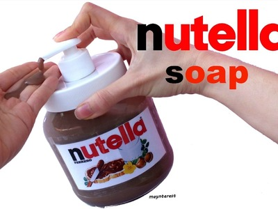 DIY NUTELLA SOAP