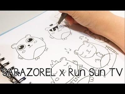 Doodle with Me: Run Sun TV Doodles (Collab)