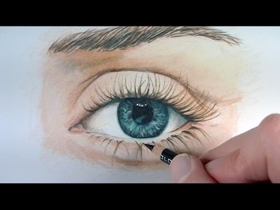 Draw a Realistic Eye with Colored Pencils
