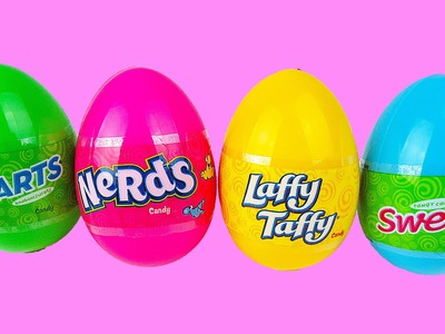 Easter Eggs Unboxing NERDS Laffy Taffy SweeTarts | Awesome Candy for a Baby w. a Big Mouth