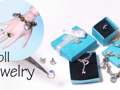 Easy Miniature Jewelry Tutorial; Charm Bracelet, Necklace, Rings, Earrings