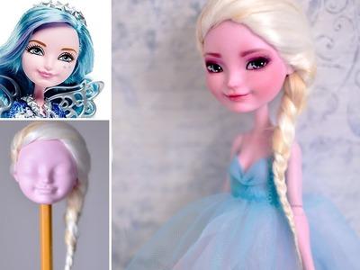 ELSA ♥ repainting Farrah Goodfairy Ever After High doll ♥ FROZEN