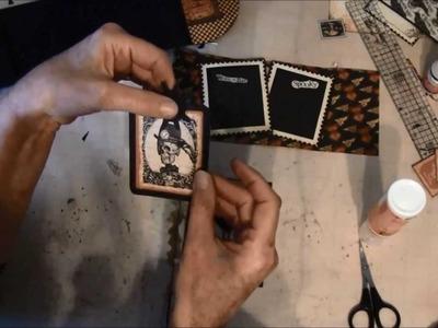 Envelope Mini album tutorial with Steampunk Spells collection part 3b