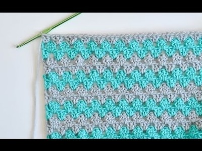 Granny Stripe Baby Blanket Tutorial