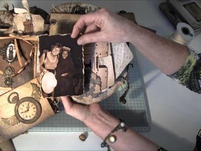 Grunge mini album with Tim Holtz equipment. Part 2