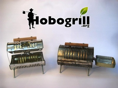 Hobogrill Kickstarter Commercial, portable campstove bbq hobo grill made from recycled materials